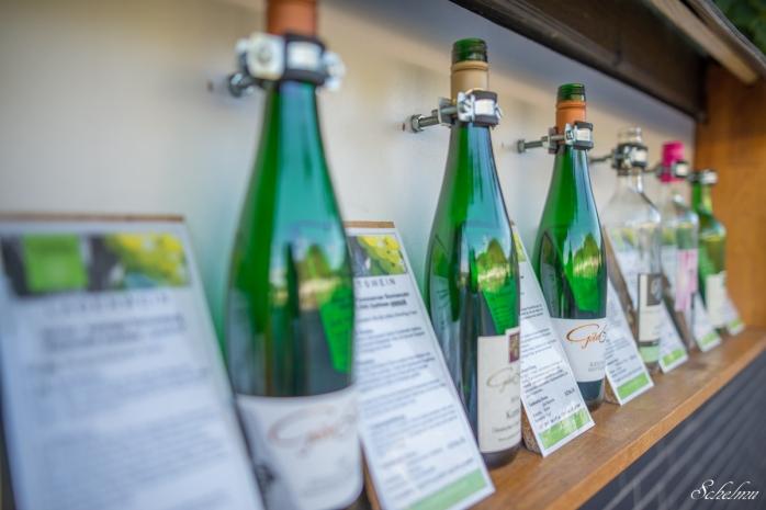 Wein Cochem an der Mosel Weinflaschen