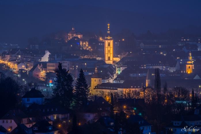 siegen blaue stunde fischbacher berg nikolaikirche