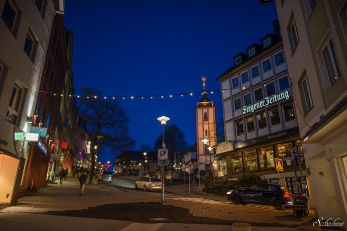 siegen oberstadt blaue stunde kölner straße nikolaikirche
