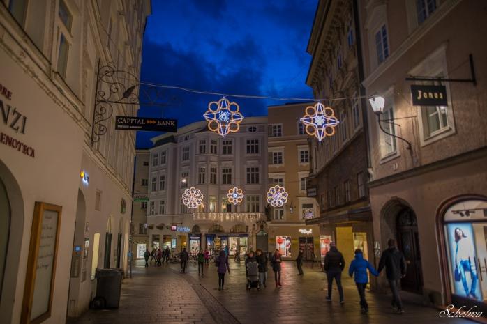 salzburg linzergasse blaue stunde