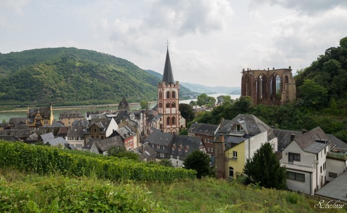 bacharach ausblick kirche st. peter wernerkapelle