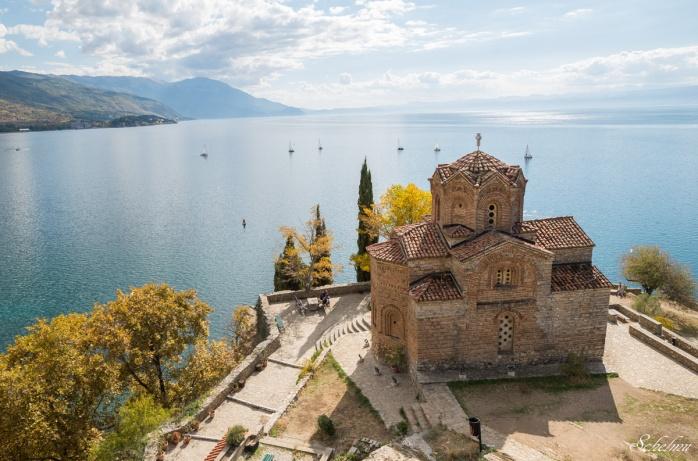 kirche des heiligen johannes von kaneo ohrid mazedonien ohridsee